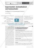 Experimentell, fachmethodisch und kommunikativ - Anregungen für ein prozessbezogenes Praktikum Preview 1