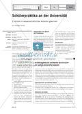 Schülerpraktika an der Universität - Einblicke in wissenschaftliches Arbeiten gewinnen Preview 1