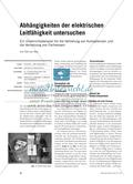 Abhängigkeiten der elektrischen Leitfähigkeit untersuchen Preview 1