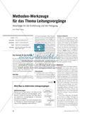 Methoden-Werkzeuge für das Thema Leitungsvorgänge - Vorschläge für die Einführung und die Festigung Preview 1