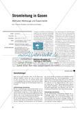 Stromleitung in Gasen - Methoden-Werkzeuge und Experimente Preview 1