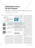 Entdeckendes Lernen mit dem Computer - Möglichkeiten und Anforderungen von Animationen und Simulationen Preview 1