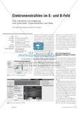 Elektronenstrahlen im E- und B-Feld - Eine interaktive Lernumgebung zum Informieren, Experimentieren und Üben Preview 1