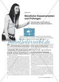 Mündliche Klassenarbeiten und Prüfungen - Anforderungen und Formate zur Überprüfung der Sprechkompetenz Preview 1