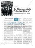 Der Staatsanwalt als Verteidiger Hitlers: Problemorientierter Einstieg mit einer Textquelle Preview 1