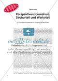 Perspektivenübernahme, Sachurteil und Werturteil - Drei zentrale Kompetenzen im Umgang mit Geschichte Preview 1