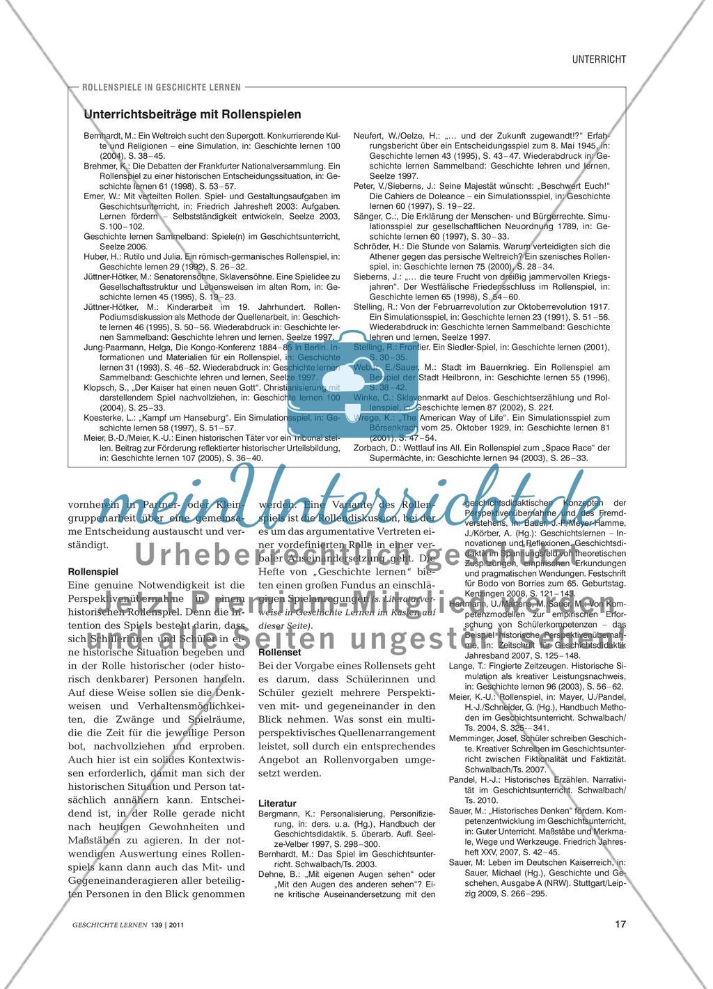 Historische Perspektivenübernahme - Methodische Anregungen ...