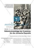 Reformvorschläge der Gracchen für die römische Republik - Perspektivenübernahme und Sachurteilskompetenz in Klasse 6 Preview 1
