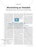 Microtraining zur Textarbeit: Kleinschrittige Dekonstruktion eines Kommentars zum Ersten Weltkrieg Preview 1