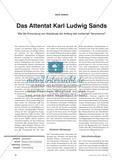 Die Anfänge des Terrorismus: Das Attentat Karl Ludwig Sands Preview 1