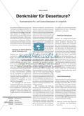 Denkmäler für Deserteure: Exemplarische Pro- und Contra-Diskussion im Unterricht Preview 1