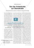 Von der Aristokratie zur Demokratie: Analyse eines Schulbuchtextes Preview 1