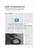 """""""Stoffe"""" im Chemieunterricht - Ein wichtiger Begriff mit vielen Verständnishürden Preview 1"""