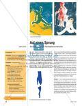 Kunst_neu, Sekundarstufe I, Flächiges Gestalten, Drucken, Druckgrafische Vorgänge, Schablonendruck, Körperhaltung, Fläche, Darstellung, situativ, Figuren, Bewegung, Schnitt