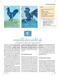 Der Hahn macht blau - Zu einer Farbfamilie schreiben und malen Preview 2
