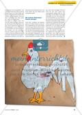 Ein Hahn aus Zeitungspapier: Collagieren in der Reißtechnik Preview 3