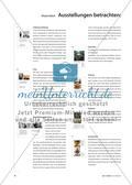 Materialteil: Ausstellungen betrachten: Hintergründe, Zusammenhänge Preview 1