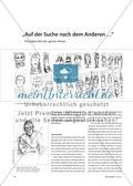 """""""Auf der Suche nach dem Anderen …"""" - Kritzelporträts der ganzen Klasse Preview 1"""