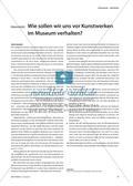 Materialteil: Wie sollen wir uns vor Kunstwerken im Museum verhalten? Preview 1