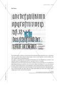 Schrift schreiben - Kalligraphie im Kunstunterricht Preview 5