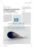 """Fotografisches Inszenieren von Papierobjekten - Rezeption von Wolfgang Tillmans """"paper drop"""" Preview 1"""