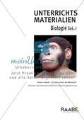 Biologie_neu, Sekundarstufe I, Evolution, Evolution des Menschen, Evolutionstheorien und -prinzipien, Vergleiche der Evolutionsstadien des Menschen, Evolution, Entwicklung, Mensch, Affe, Stadium, Vergleich