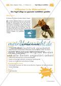 Vogel-Collage aus gepressten Laubblättern Preview 1