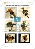 Vogel-Collage aus gepressten Laubblättern Preview 22