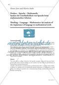 Denken – Sprache – Mathematik: Analyse der Unerlässlichkeit von Sprache beim mathematischen Arbeiten Preview 1