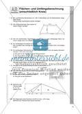 Flächen- und Umfangsberechnung (einschließlich Kreis) Preview 1
