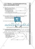 Flächen- und Umfangsberechnung (einschließlich Kreis) Preview 2