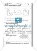 Flächen- und Umfangsberechnung (einschließlich Kreis) Preview 3