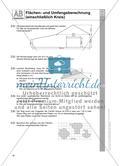 Flächen- und Umfangsberechnung (einschließlich Kreis) Preview 4
