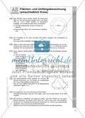 Flächen- und Umfangsberechnung (einschließlich Kreis) Preview 5
