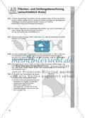 Flächen- und Umfangsberechnung (einschließlich Kreis) Preview 6