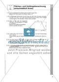Flächen- und Umfangsberechnung (einschließlich Kreis) Preview 7