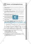 Flächen- und Umfangsberechnung einschließlich Satz des Pythagoras: Arbeitsblätter Preview 2