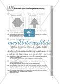 Flächen- und Umfangsberechnung einschließlich Satz des Pythagoras: Arbeitsblätter Preview 3