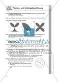 Flächen- und Umfangsberechnung einschließlich Satz des Pythagoras: Arbeitsblätter Preview 4