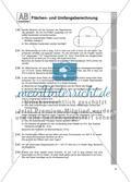 Flächen- und Umfangsberechnung einschließlich Satz des Pythagoras: Arbeitsblätter Preview 5