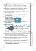 Flächen- und Umfangsberechnung einschließlich Satz des Pythagoras: Arbeitsblätter Preview 6