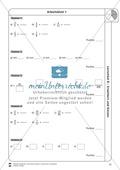 Stationsarbeit - Brüche erweitern und kürzen: Stationskärtchen, Lösungen und Arbeitsbögen Preview 11