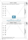 Stationsarbeit - Brüche erweitern und kürzen: Stationskärtchen, Lösungen und Arbeitsbögen Preview 4
