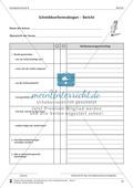 Schreibtraining Kompetenzstufe B: Bericht: Arbeitsblätter mit Lösungen Preview 10