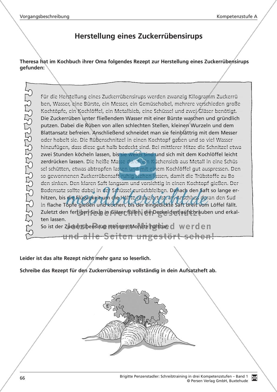 Schreibtraining Kompetenzstufe A: Vorgangsbeschreibung: Arbeitsblätter mit Lösungen Preview 4