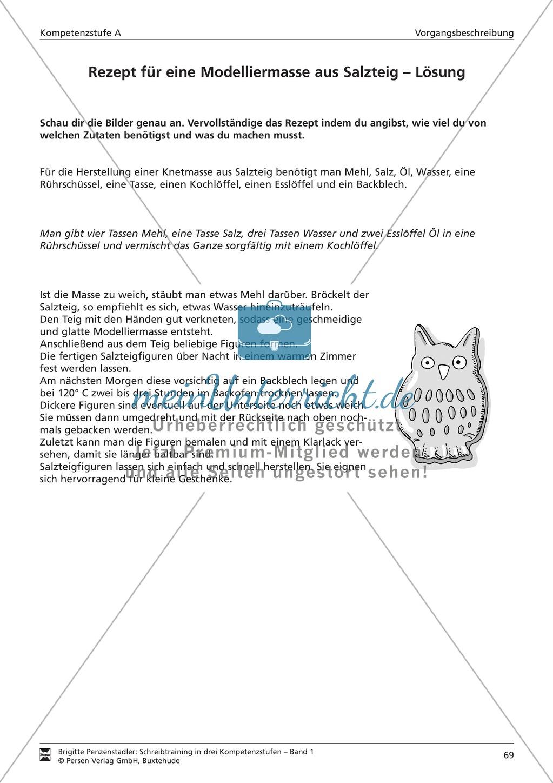 Schreibtraining Kompetenzstufe A: Vorgangsbeschreibung: Arbeitsblätter mit Lösungen Preview 7