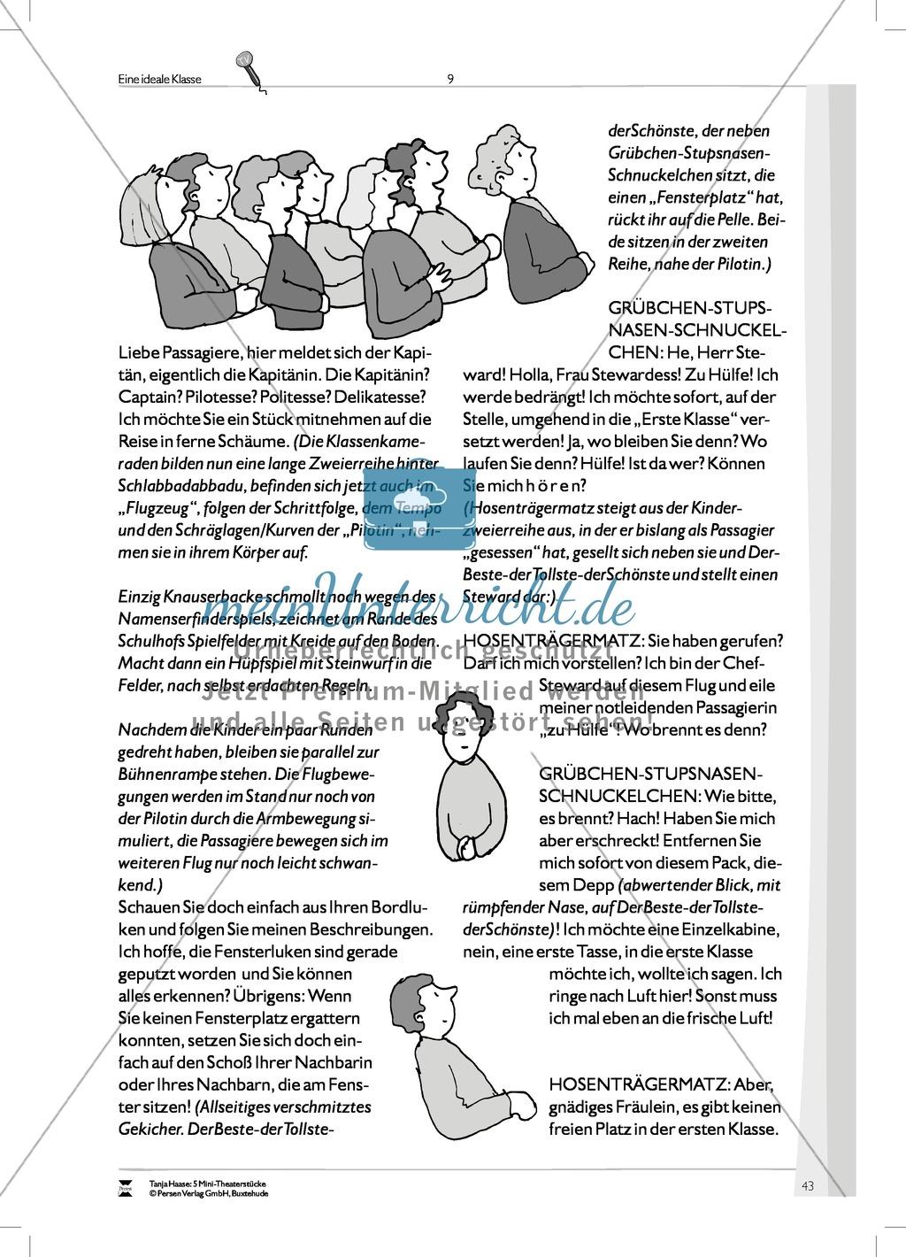 Eine ideale Klasse: Mini-Theaterstück (Thema Spielen, Lernen und Individualität) Preview 8
