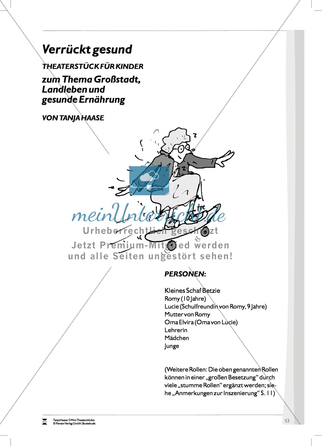 Verrückt gesund: Mini-Theaterstück und Arbeitsmaterialien Preview 7