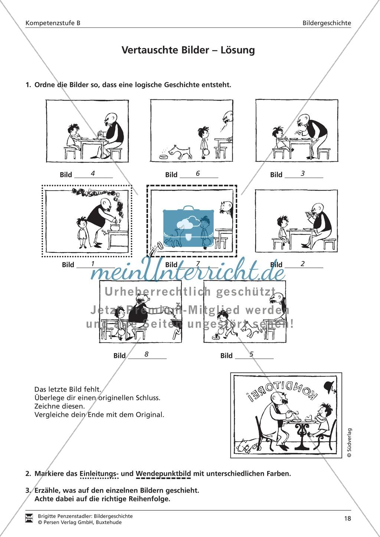Bilder zu einer Bildergeschichte ordnen: Übung und Lösung Preview 2
