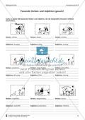Passende Verben und Adjektive zu Bildern suchen: Übung und Lösung Preview 1